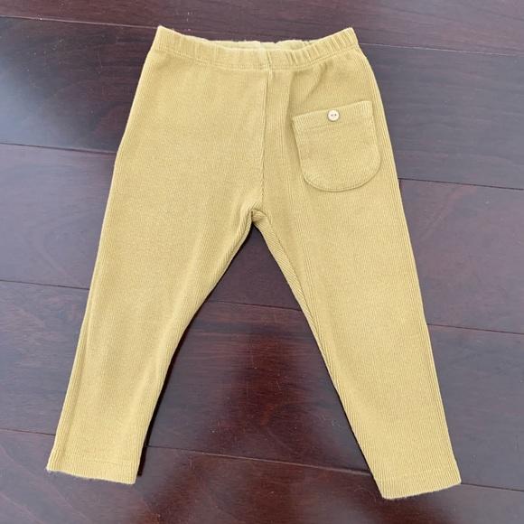 13161510ff164 Zara Bottoms | Baby Girl Ribbed Leggings In Mustard 1218mo | Poshmark